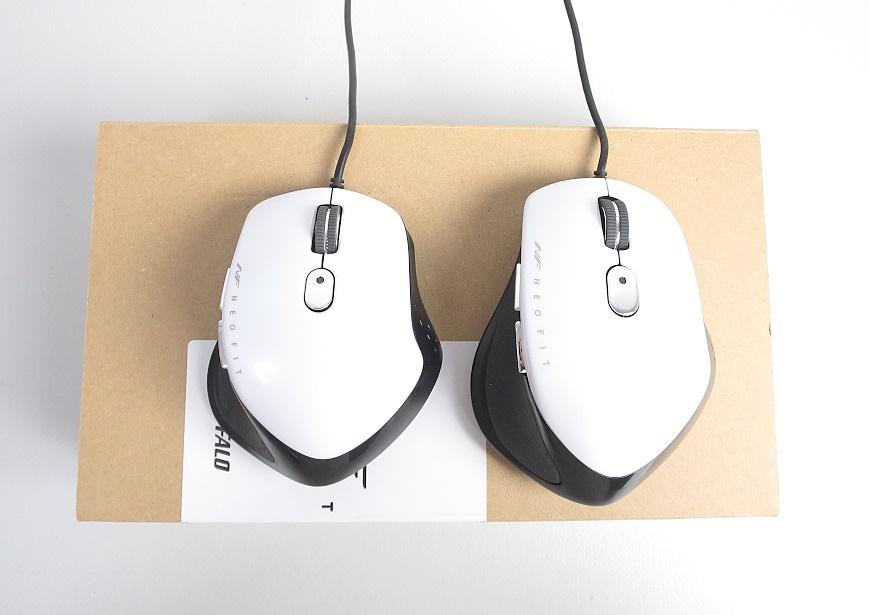 ネオフィット 静音マウスの大きさ比較