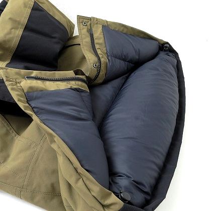 ノースフェイス マウンテンダウンジャケットの裾のダウン量