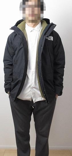 マウンテンライトジャケットにアコンカグアジャケットをジップインジップ