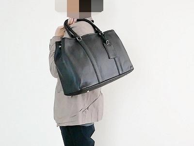 メンズ用のレザートートバッグ